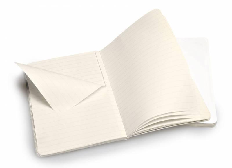 Блокнот Moleskine VOLANT 90x140мм 80стр. линейка мягкая обложка белый (2шт) - фото 2