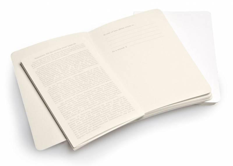 Блокнот Moleskine VOLANT 90x140мм 80стр. линейка мягкая обложка белый (2шт) - фото 3