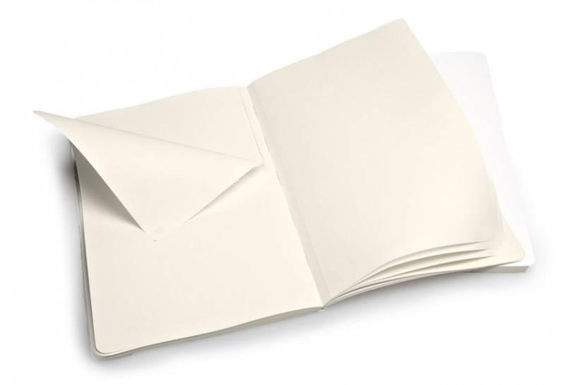 Блокнот Moleskine VOLANT 130х210мм 96стр. нелинованный мягкая обложка белый (2шт) - фото 2