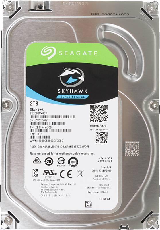 Жесткий диск 2Tb Seagate Skyhawk ST2000VX008 SATA-III - фото 1