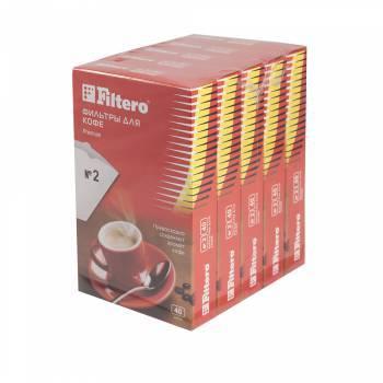 Фильтры для кофе для кофеварок Filtero №2 белый 1x2, в упаковке 200шт. (2/200)