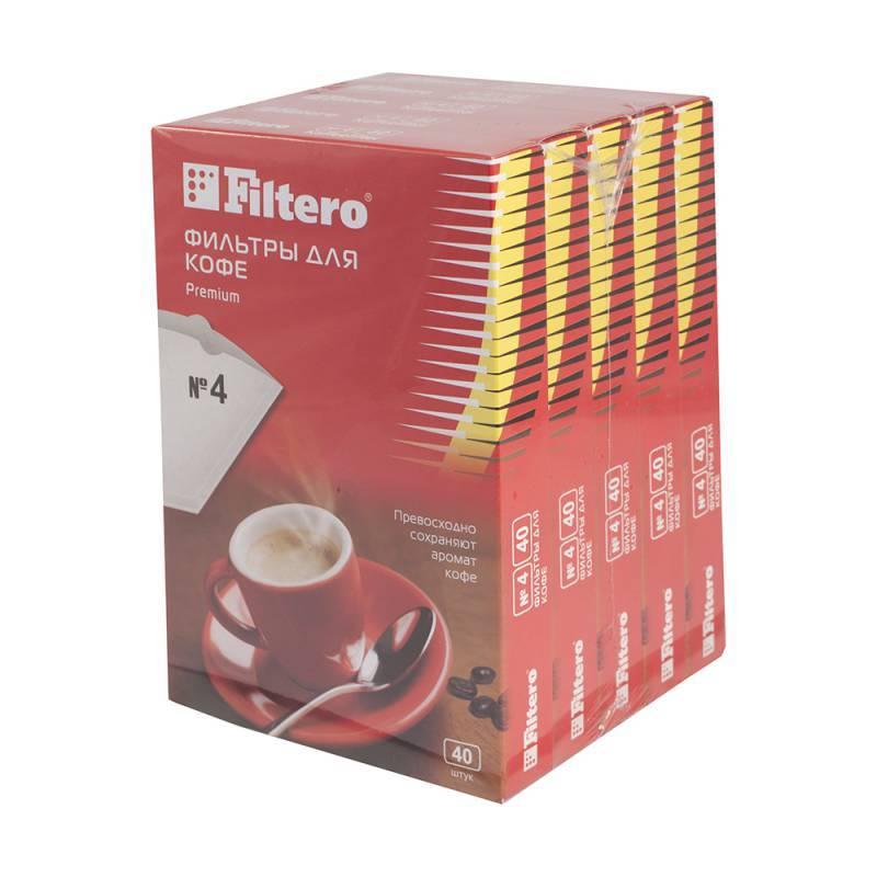 Фильтры для кофе для кофеварок Filtero Premium №4 белый 1х4, в упаковке 200шт. (5/200) - фото 1