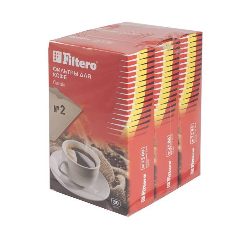 Фильтры для кофе для кофеварок Filtero №2 коричневый 1x2, в упаковке 240шт. (2/240) - фото 1
