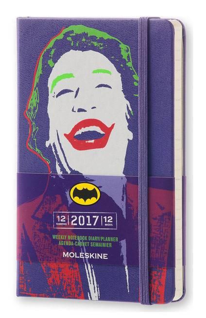 Еженедельник Moleskine BATMAN WKNT карманный 144стр. фиолетовый - фото 1