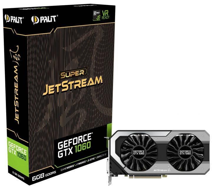 Видеокарта Palit GeForce GTX 1060 Super JetStream 6144 МБ (NE51060S15J9-1060J) - фото 6
