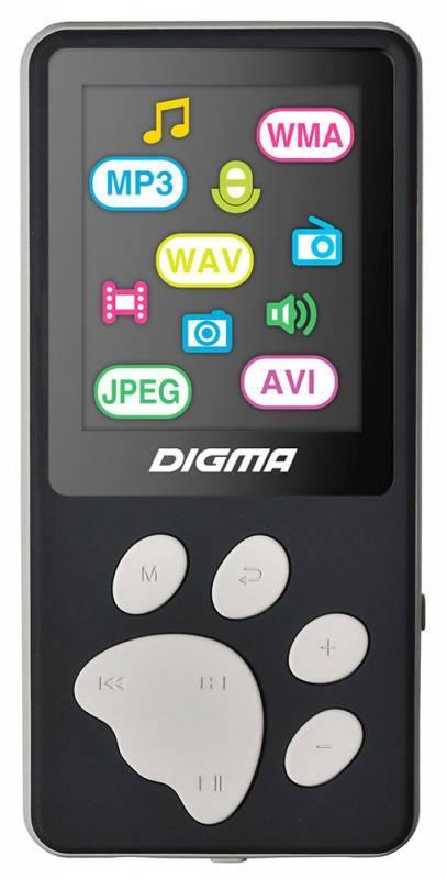 Плеер Digma S3 4ГБ черный/серый (S3BG) - фото 1