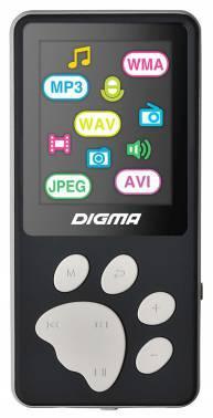 mp3-плеер 4Gb Digma S3 черный / серый