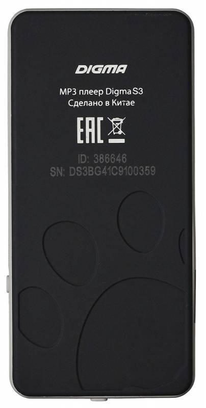 Плеер Digma S3 4ГБ черный/серый (S3BG) - фото 2