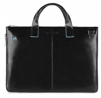 Сумка для ноутбука Piquadro Blue Square черный, кожа натуральная (CA4021B2/N)