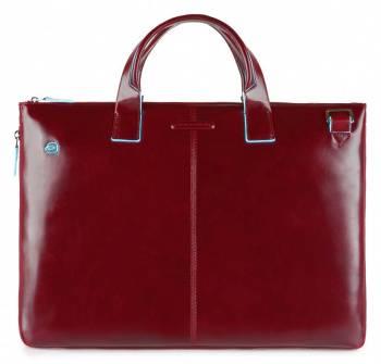 Сумка для ноутбука Piquadro Blue Square красный, кожа натуральная (CA4021B2/R)