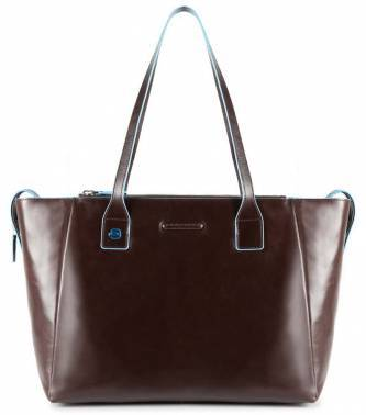 Сумка для покупок женская Piquadro Blue Square коричневый, кожа натуральная (BD3883B2/MO)