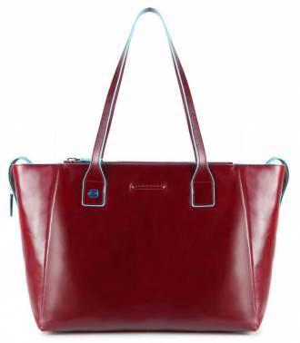 Сумка для покупок женская Piquadro Blue Square красный, кожа натуральная (BD3883B2/R)