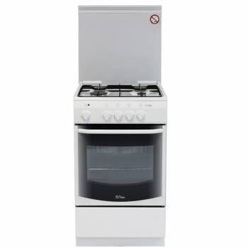 Плита комбинированная De Luxe 5040.21гэ КР ЧР белый