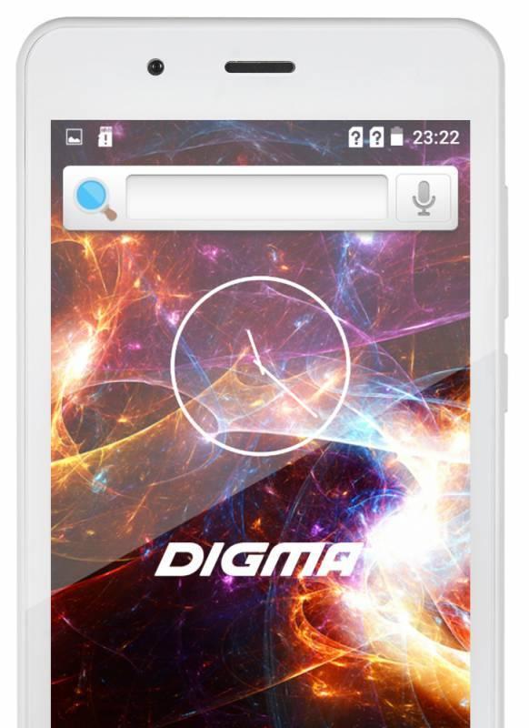 Смартфон Digma S504 3G Vox 8ГБ белый (VS5016PG) - фото 4
