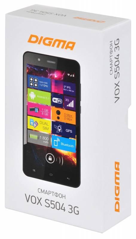 Смартфон Digma S504 3G Vox 8ГБ белый (VS5016PG) - фото 14