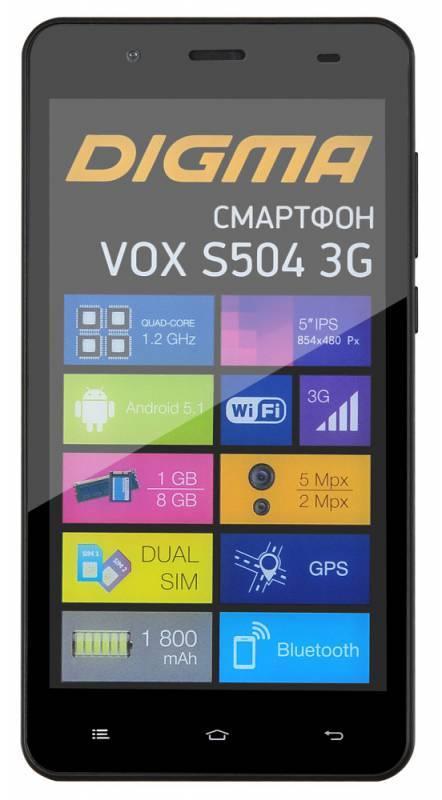 Смартфон Digma S504 3G Vox 8ГБ черный - фото 2