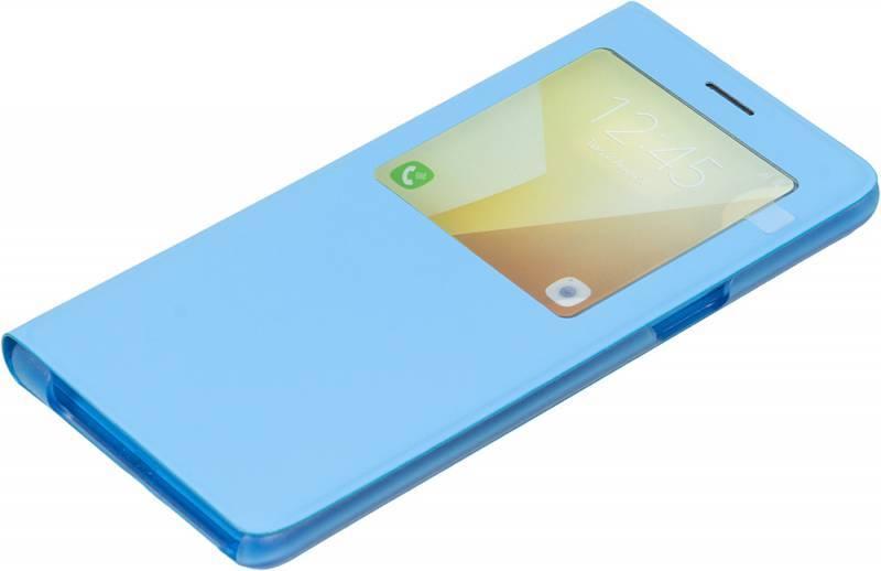 Чехол (флип-кейс) Samsung S View Standing Cover синий - фото 1