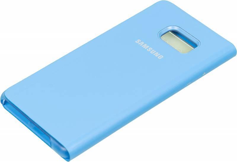 Чехол (флип-кейс) Samsung S View Standing Cover синий - фото 2