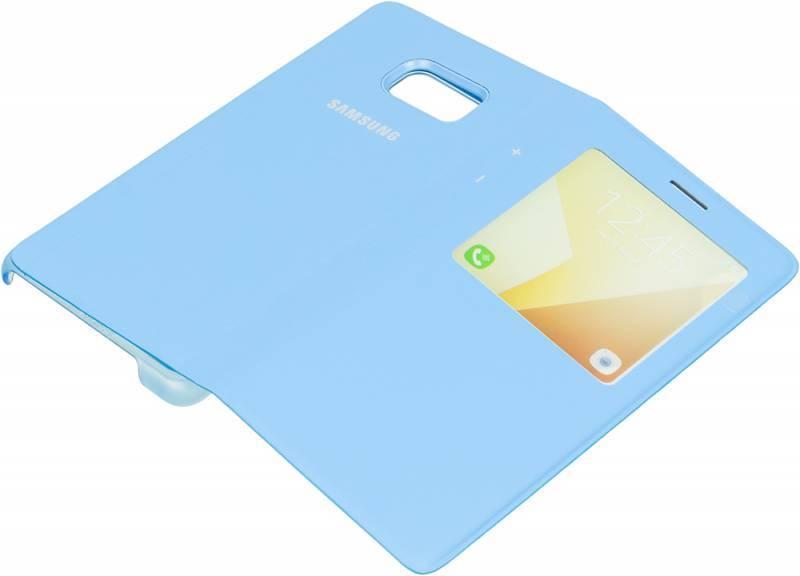 Чехол (флип-кейс) Samsung S View Standing Cover синий - фото 3
