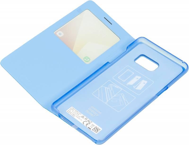 Чехол (флип-кейс) Samsung S View Standing Cover синий - фото 4