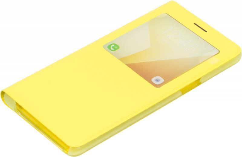 Чехол (флип-кейс) Samsung S View Standing Cover желтый - фото 1