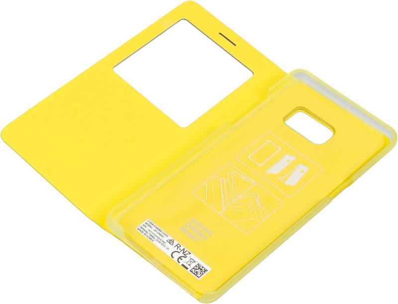 Чехол (флип-кейс) Samsung S View Standing Cover желтый - фото 4