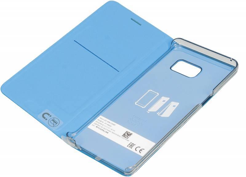 Чехол (флип-кейс) Samsung LED View Cover синий - фото 4