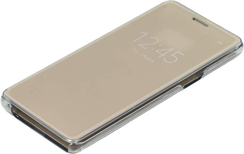Чехол (флип-кейс) Samsung Clear View Cover золотистый - фото 1