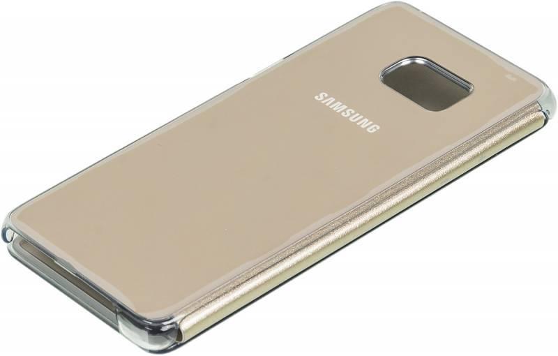 Чехол (флип-кейс) Samsung Clear View Cover золотистый - фото 2