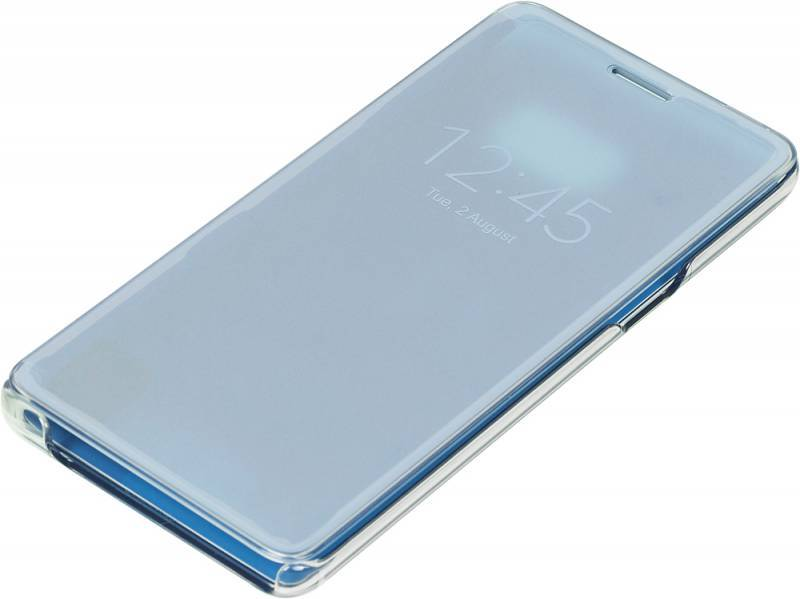 Чехол (флип-кейс) Samsung Clear View Cover синий - фото 1