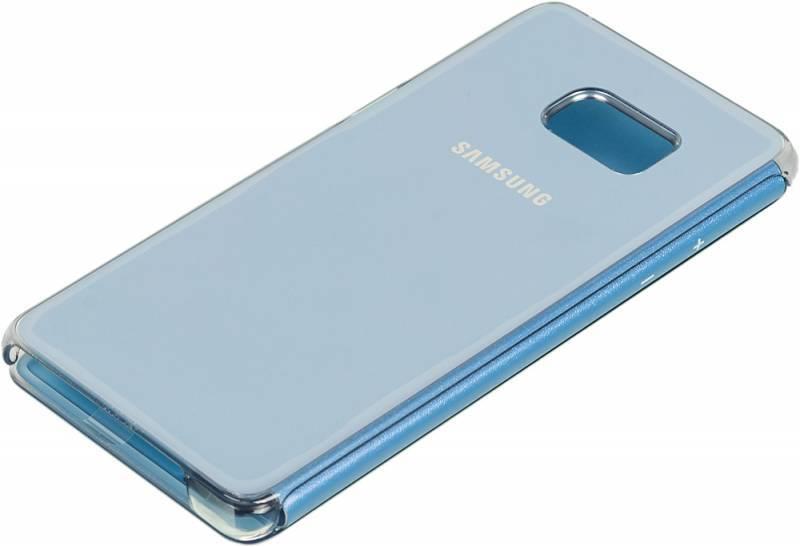 Чехол (флип-кейс) Samsung Clear View Cover синий - фото 2