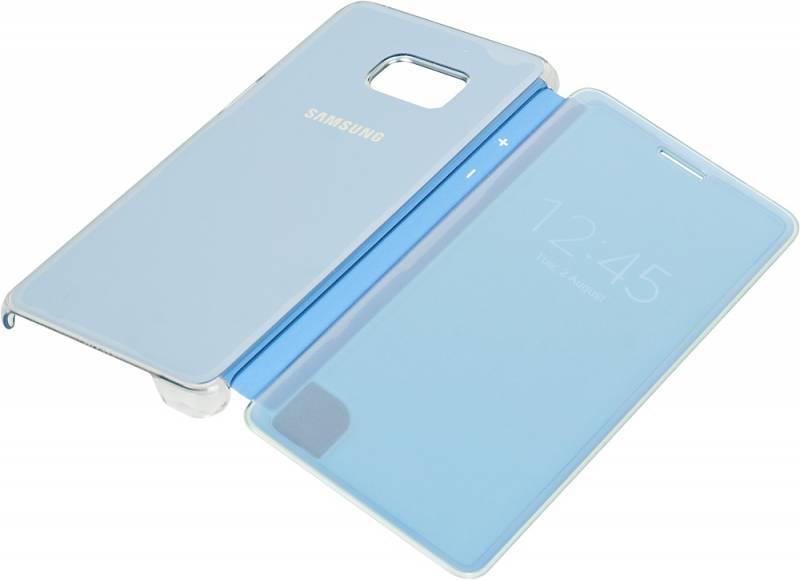 Чехол (флип-кейс) Samsung Clear View Cover синий - фото 3
