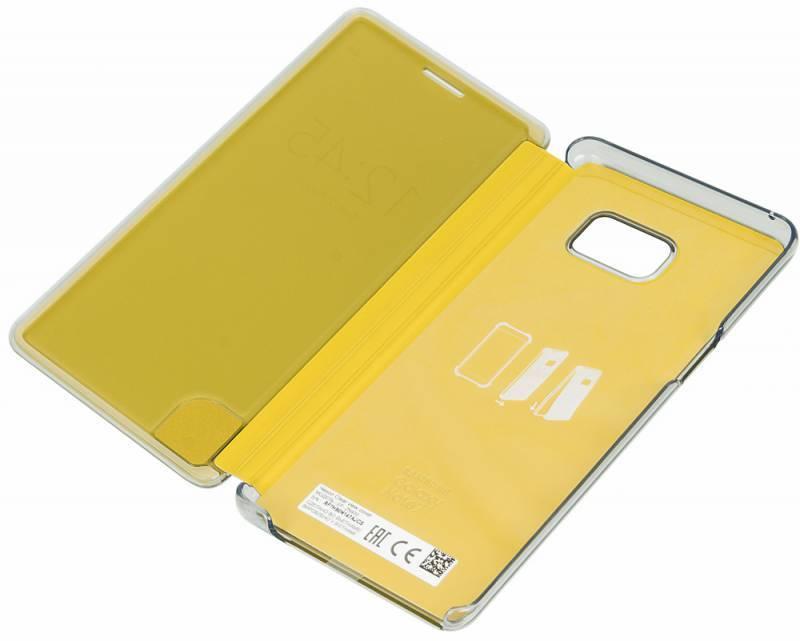 Чехол (флип-кейс) Samsung Clear View Cover желтый - фото 4