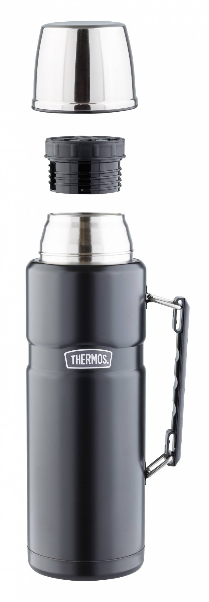 Термос Thermos SK2020 Matte Black черный (892195) - фото 2