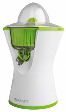 Соковыжималка цитрусовая Scarlett SC-JE50C03 белый / зеленый