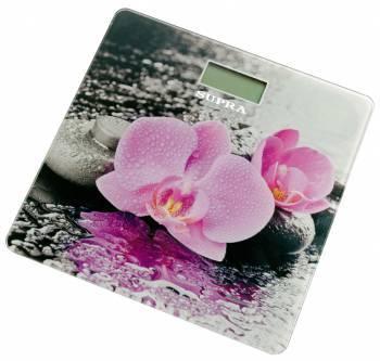 Весы напольные электронные Supra BSS-2001 розовый / рисунок