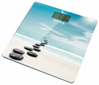 Весы напольные электронные Supra BSS-2002 голубой/рисунок (10593)