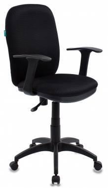 Кресло Бюрократ CH-555/TW-11, цвет обивки: черный TW-11, ткань, крестовина пластиковая