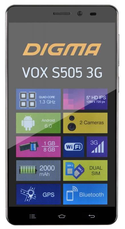 Смартфон Digma S505 3G Vox 8ГБ черный - фото 2