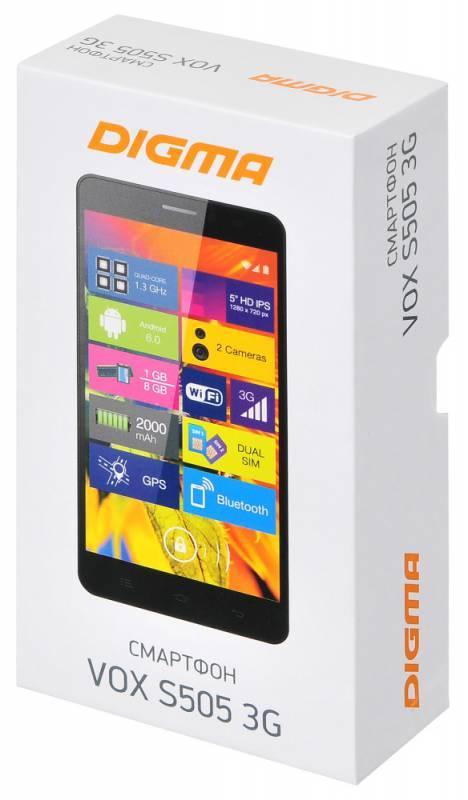 Смартфон Digma S505 3G Vox 8ГБ черный - фото 13