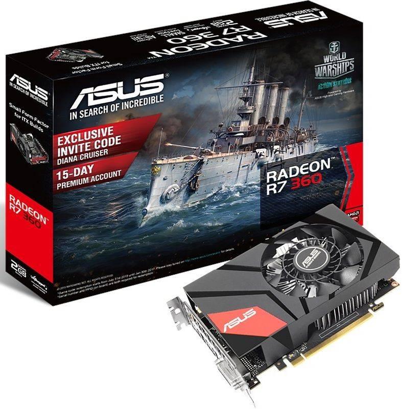 Видеокарта Asus Radeon R7 360 2048 МБ - фото 1