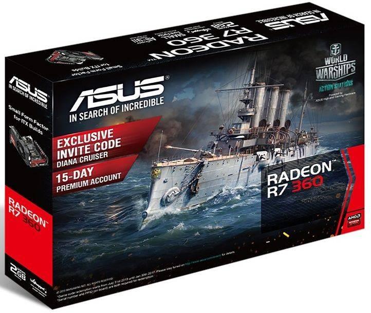 Видеокарта Asus Radeon R7 360 2048 МБ - фото 2