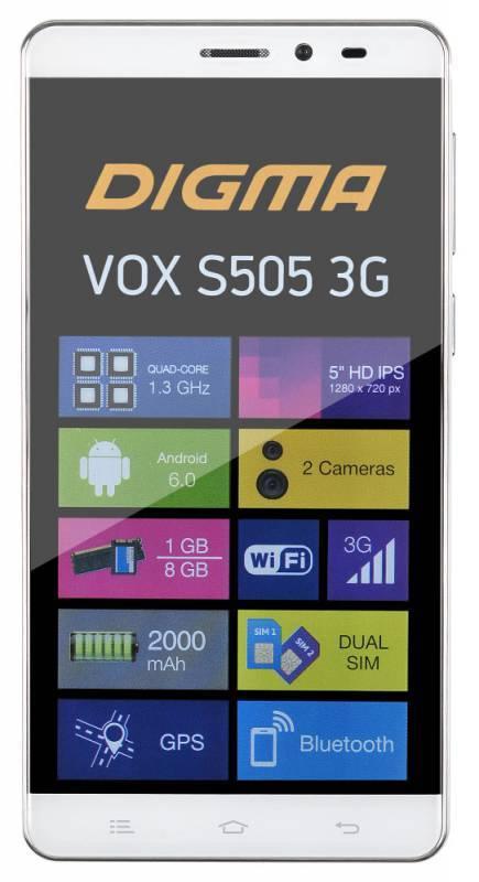 Смартфон Digma S505 3G Vox 8ГБ белый - фото 2