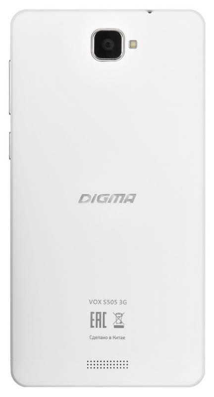 Смартфон Digma S505 3G Vox 8ГБ белый - фото 3