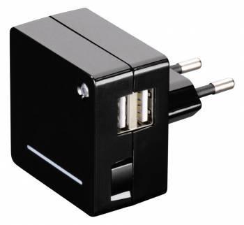Зарядное устройство Hama Opal черный (0000124557)