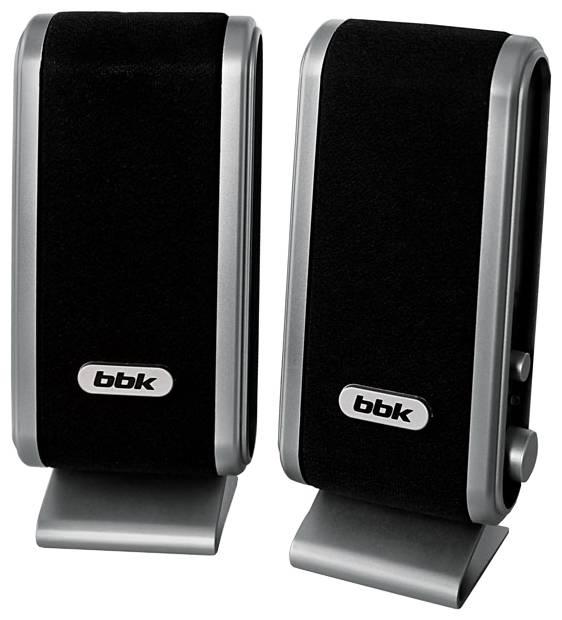 Акустическая система 2.0 BBK CA-190S черный/серебристый - фото 1