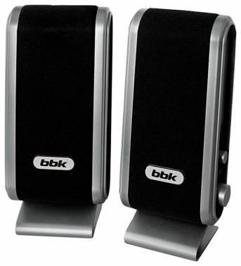 Акустическая система 2.0 BBK CA-190S черный / серебристый
