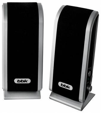 Акустическая система 2.0 BBK CA-192S черный / серебристый