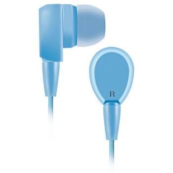 Наушники BBK EP-1430S голубой, вкладыши, крепление в ушной раковине, проводные, Г-образный коннектор, кабель 1.2м