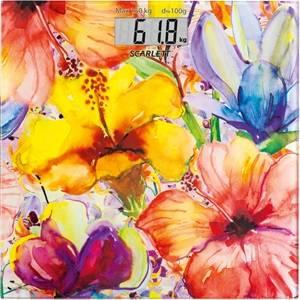 Весы напольные электронные Scarlett SC-BS33E071 рисунок / цветы